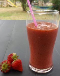 >Smoothies aux fraises et tomates…
