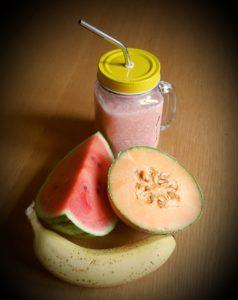 >Jus de melon, pastèque et banane