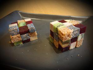 >Cubes de faux gras…
